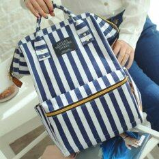 BEST Japan Women Bag Backpack กระเป๋าเป้สะพายหลัง - White/Blue