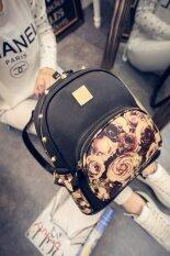 B'nana Beauty กระเป๋าสะพายหลังผู้หญิง รุ่น BRS-01 (สีดำกุหลาบ)