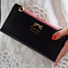 Bogesi กระเป๋าสตางค์ ใส่บัตรผู้หญิงหนังแท้ใบยาว รุ่น B055-6 (สีดำ) ราคา 399 บาท(-69%)