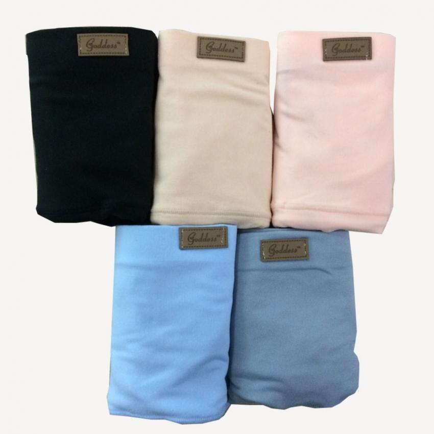 C&L กางเกงชั้นในเอวสูง 9003 (สีดำ + สีเนื้อ + สีส้ม + สีฟ้า + สีเทา) 5ตัว/Set