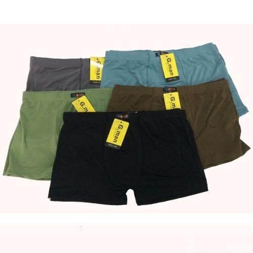 C&L กางเกงชั้นในชายขาสั้นขอบหุ้ม N-4 (สีดำ+เทา+ฟ้า+เขียว+น้ำตาล) 10ตัว/Set ...