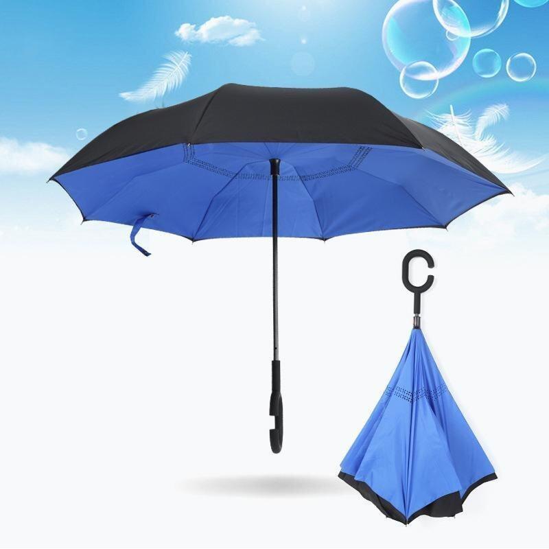 Car Not Wet Umbrella Double Reverse Windproof Umbrella Reverse Umbrella - intl ...