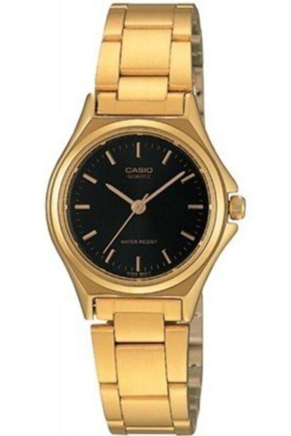 Casio นาฬิกาข้อมือผู้หญิง สีทอง/หน้าดำ สายสแตนเลส รุ่น LTP-1130N-1ADF ...
