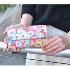 Cath King Fashion Pvc Waterproof Printed Flower Multi-Function Wallet Purse For Women Ladies Girls- Pink Chrysanthemum - Intl ราคา 928 บาท(-45%)