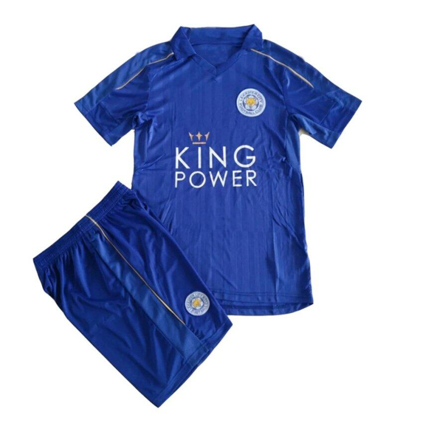 สุดยอด caxa Leicester City 2016-17 Home Blue Kit Shirt & Shorts SoccerJersey - Intl ซื้อเลย