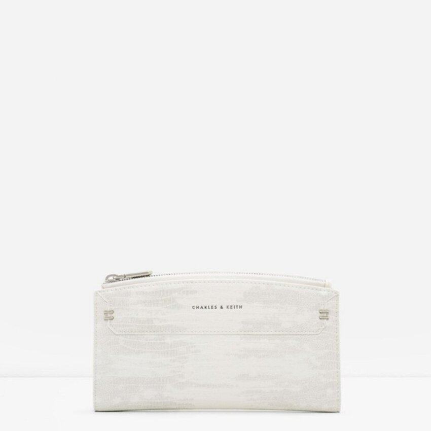 CHARLES & KEITH STITCHED OUTLINE LONG WALLET (MULTI)