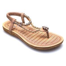Classy รองเท้าผู้หญิง รองเท้าแฟชั่น 1998-3 (Apricot)