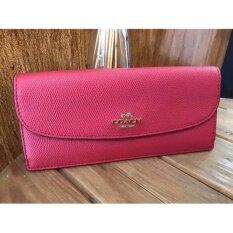 Coach F54008 Soft Wallet In Crossgrain Leather ราคา 3,290 บาท