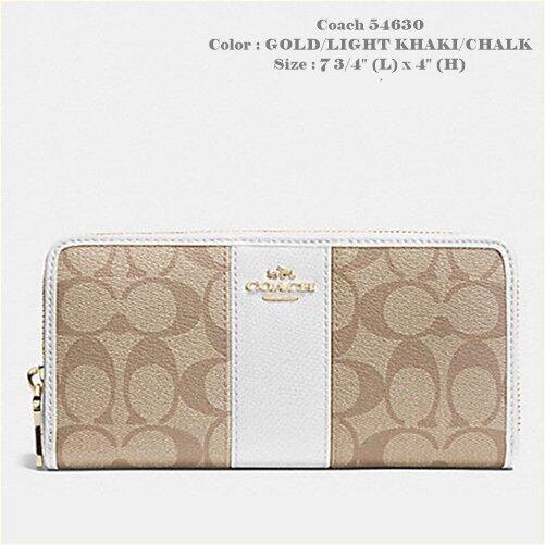 Coach F54630 กระเป๋าสตางค์ (สี GOLD/LIGHT KHAKI/CHALK)