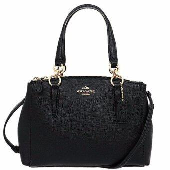 COACH กระเป๋า MINI CHRISTIE CARRYALL IN CROSSGRAIN LEATHER F57523 IMBLK (IM/Black)