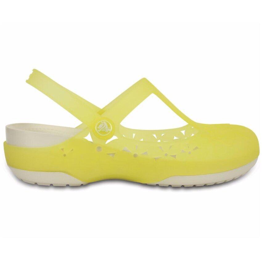CROCS รองเท้าผู้หญิง CROCS carlie mj flower w รหัส 200612-3L2 (เหลือง) ...