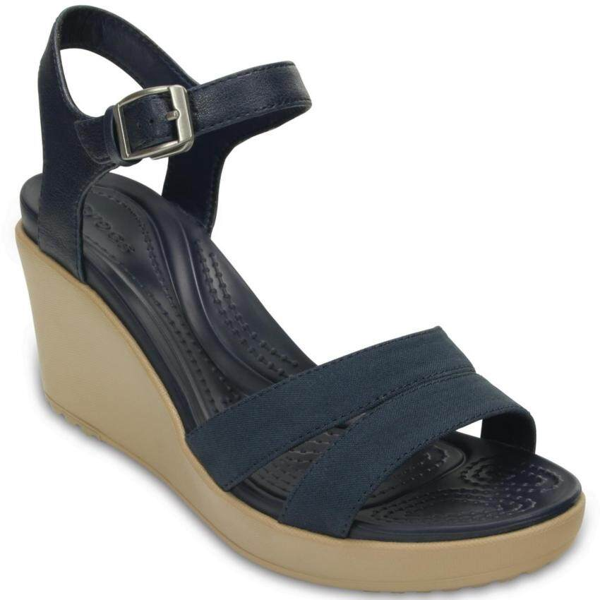 Crocs Leigh II Ankle Strap Wedge W-Navy