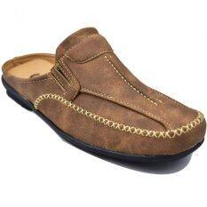 Csb รองเท้าหนังแบบสวมเปิดส้น ผู้ชาย Csb รุ่น Cm420 (สีน้ำตาล) ราคา 479 บาท(-52%)