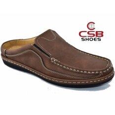 Csb รองเท้าหนังผู้ชาย Csb รุ่น Cm444(สีน้ำตาล) ราคา 479 บาท(-60%)