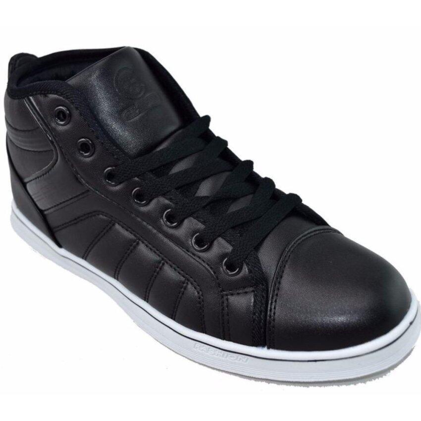 CSB รองเท้าหนังหุ้มข้อ ผู้ชาย CSB รุ่น SL97046 (ดำล้วน) ...