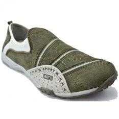 CSB รองเท้าผ้าใบแบบสวม ผู้หญิง CSB รุ่น E2226 (สีกากี)