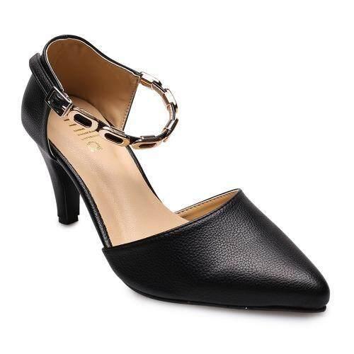 ด่วน DTN STYLE รองเท้าส้นสูงแฟชั่นผู้หญิง รุ่น TP-6-71-Black(สีดำ)(EU:36) กำลังลดราคา