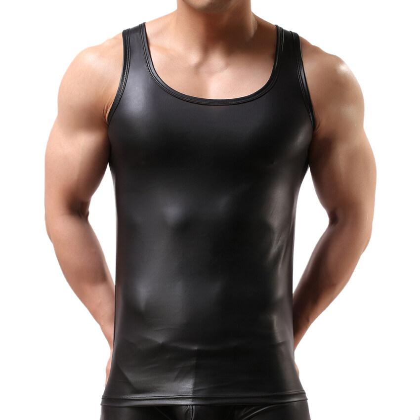 EOZY เสื้อกั๊กผู้ชายสไตล์เกาหลี และเสื้อแขนกุดรัดรูปสวมชายผอมบางเซ็กซี่เสื้อกล้ามใส่น้ำม ...