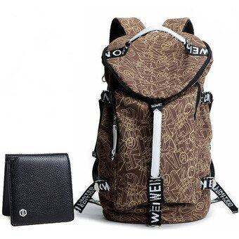 Fashion Leisure Large Capacity Backpack New Korean Men Student Back Pack Canvas Bag (Big ...