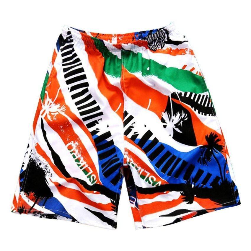 Fashion Men Casual Summer Beach Shorts Polyester Fiber Fast Drying Breathable Elastic Wa ...