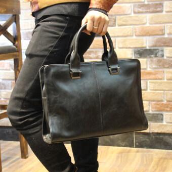 Finalize Mens Handbags Male Tote Bag Shoulder Bag CrossbodyInclined Shoulder Bag Business (Black) - intl