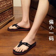 ชายพลิกรองเท้าแตะผู้ชาย Flip-Flop (สีดำ) ราคา 377 บาท(-51%)