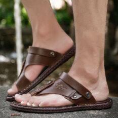 ลื่น Flip Flops รองเท้าแตะ (สีกากี) ราคา 500 บาท(-33%)