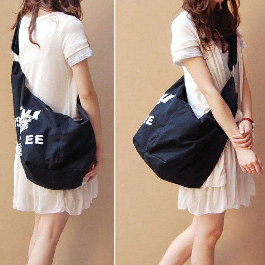 FTshop กระเป๋าแฟชั่นเกาหลี+กระเป๋าสะพายข้าง+กระเป๋าเป้+กระเป๋าสะพาย รุ่น56c (สีดำ)