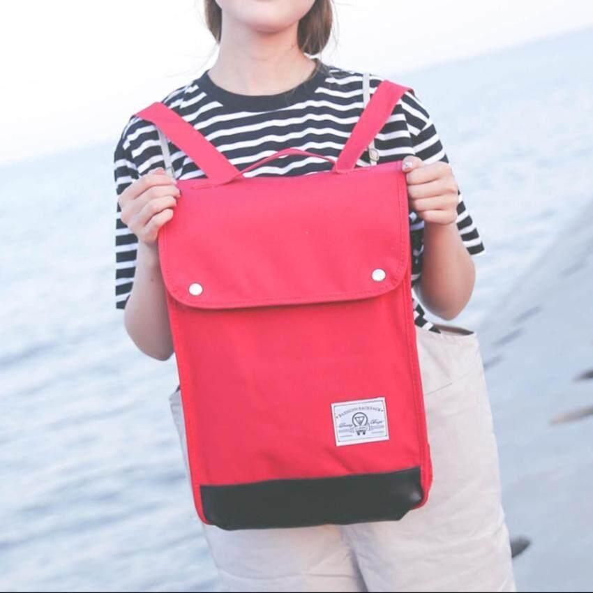 FTshop กระเป๋าเป้ กระเป๋าแฟชั่น กระเป๋าผ้า กระเป๋า กระเป๋าสะพายหลัง กระเป๋าเป้สะพายหลัง กระเป๋าเดินทาง รุ่น 150c - สีแดง