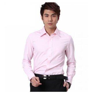 G2000 Mens Long Sleeved Shirt - Light Pink - Intl