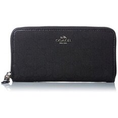 GPL/ Coach Outline Signature Accordion Zip Wallet - Black/Black/ship from USA - intl image