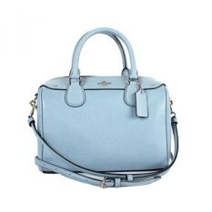 GPL/ Coach Women's leather Handbag F57521 (Blue)/ship from USA - intl image