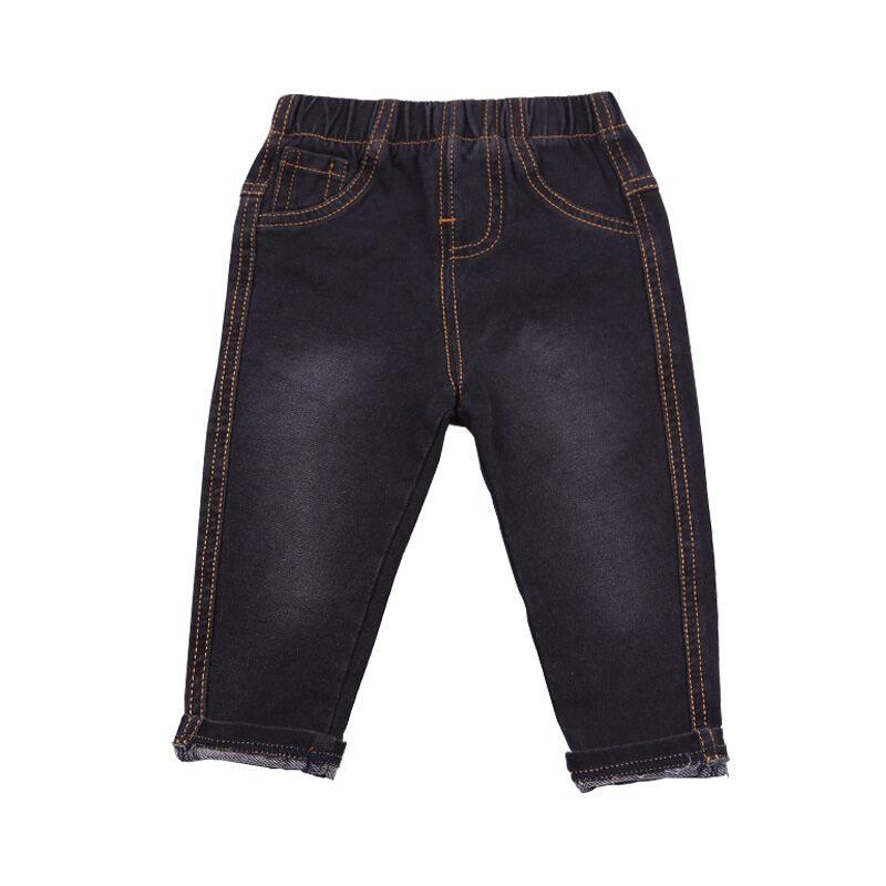 Grandwish Children Knit Jeans Pencil Pants Elastic Waist 12M-6T (Black) - intl ...