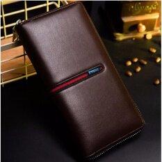 กระเป๋าตังผู้หญิง หนังอย่างดี สไตล์gucci สีน้ำตาล ราคา 319 บาท(-54%)