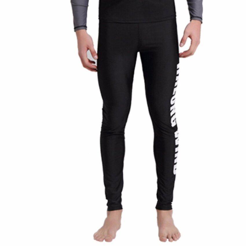 กางเกงว่ายน้ำขายาวผู้ชาย HALONG WIND สีดำ ไซส์ S-2XL # 1609 ...