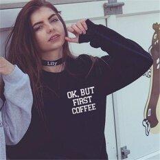Hot Sale!womens Coat Trendy Sweater Alphabet Printing Sweater(black) - Intl ราคา 349 บาท(-50%)