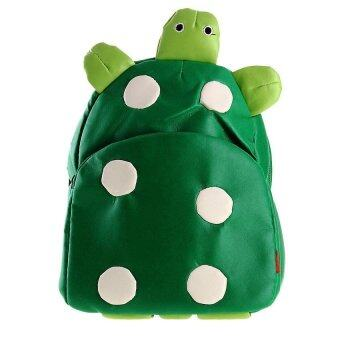 Generic Children Kids Kindergarten Backpack Shoulder School Bag Cute Turtle Shape Green