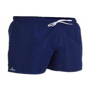 ALLSPORT กางเกงว่ายน้ำขาสั้นสำหรับผู้ชาย Hendaia (สีน้ำเงินเข้ม)