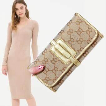 Nuchon Bag GuCi&Belt กระเป๋าสตางค์ ใส่มือถือ GB Smart Wallet Iphone 6 Plus Size M/Gold