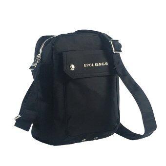 Epol กระเป๋าสะพายข้าง ขนาดเล็ก สีดำ