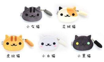 กระเป๋าใส่เหรียญ แมวเหมี๊ยว ทาสแมว แมวดำ ตาสองสี
