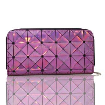Nuchon Women Walletกระเป๋าสตางค์ กระเป๋าสตางค์ใส่มือถือ Iphone 6Plus SizeL สีชมพูอ่อน รุ่น Bao Bao Issey
