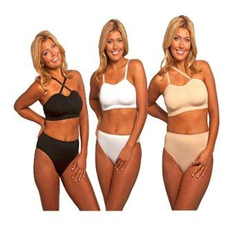 custom bra แบบสปอร์ตบราแบบปรับสายได้ บราสวมสบายโฆษณาทีวีเลือกปรับสายบราได้หลายแบบให้เหมาะกับชุดที่ใส่ 1 กล่องมี 3 ตัว สามสี