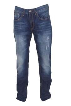 JEANS กางเกงขายาวยีนส์ Jea6890bl (สีกรมเข้มฟอก)