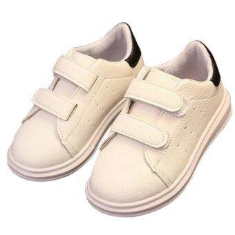 แฟชั่นเด็กขาวรองเท้ารองเท้ารองเท้าวัยสาเหตุแบนแสนสบาย (สีดำ)