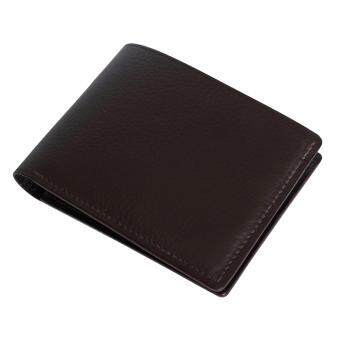 Reith Handcrafted Wallet - Dark Brown - กระเป๋าสตางค์ผู้ชาย หนังแท้ Reith