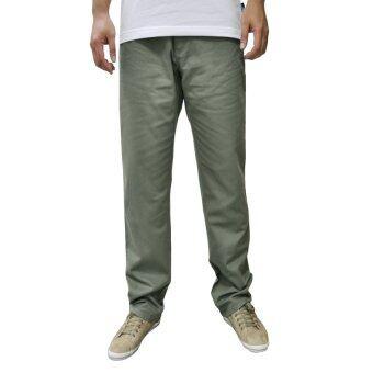 OASIS กางเกงขายาวผู้ชาย Big Size รุ่น Chino Pants MCH8441-VG สีเขียวมะกอก