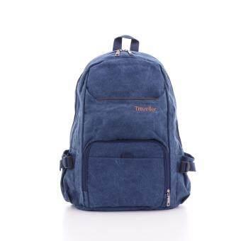 Bag Gammon Traveller กระเป๋าเป้แคนวาส (สีน้ำเงิน)