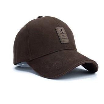นิวแฟชั่นหมวกเบสบอลกีฬา 2559 เพศ Snapback กอล์ฟหมวกแข็งสำหรับคนกระดูก (สีน้ำตาล)