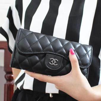 Nuchon Bag กระเป๋าสตางค์ ใส่มือถือ CoCo&CC Smart Wallet Iphone 6S Size M (Black/Black)